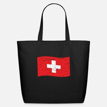 Cross Switzerland Flag Swiss Flag Suise Schweiz - Eco-Friendly Tote Bag