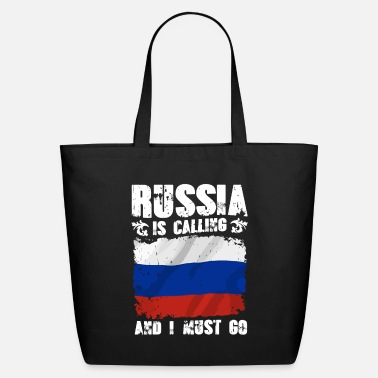 Russia Russian T Shirt Russia Calls and I have to go - Eco-Friendly Tote Bag