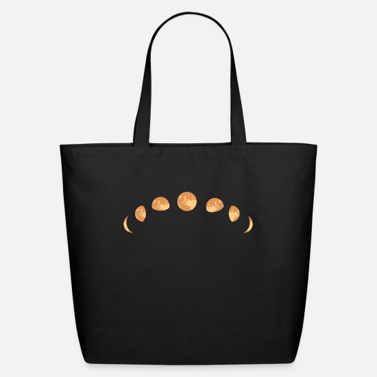 Moon Bags & Backpacks - Moon Phases - Eco-Friendly Tote Bag black