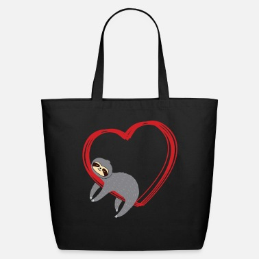 Heart Sloth Valentines - Eco-Friendly Tote Bag