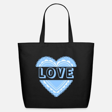 Lovely Love (Blue Ver.) - Eco-Friendly Tote Bag