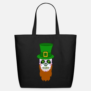 Sugar Sugar Skull Day of Dead St Patrick's Day - Eco-Friendly Tote Bag