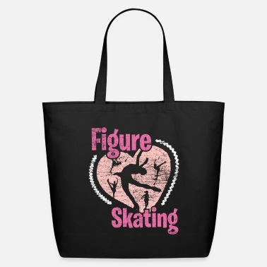 Skater Figure Skating Heart - Eco-Friendly Tote Bag
