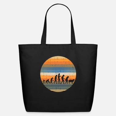 Evolution Funny Evolution of Man, Monkey to Sheeple Hipster - Eco-Friendly Tote Bag