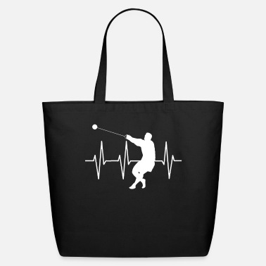 Hammer Hammer Throw Hammer Thrower Heartbeat EKG Gift - Eco-Friendly Tote Bag