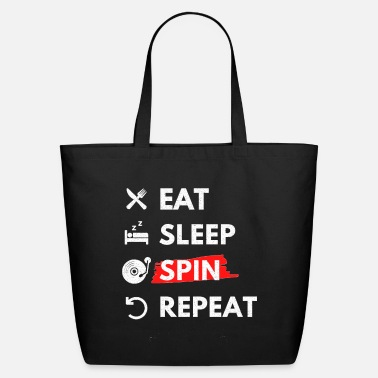 Eat Sleep Spin Repeat - Eco-Friendly Tote Bag