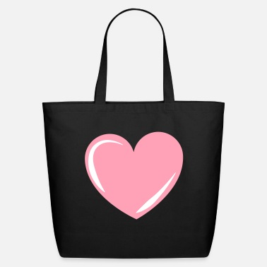 Pink Heart Pink Heart, heart, love, pink, valentines - Eco-Friendly Tote Bag