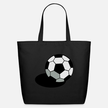 Pineapple And Soccer SOCCER FOOTBALL BALL WITH A SHADOW - Eco-Friendly Tote Bag