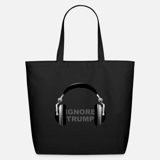President Bags & Backpacks - ignore trump headphones - Eco-Friendly Tote Bag black