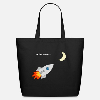Dash Dash Price Rocket to the moon Crypto Gift Idea - Eco-Friendly Tote Bag