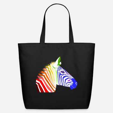 Zebra Zebra; Punk Zebra; Rainbow Zebra - Eco-Friendly Tote Bag