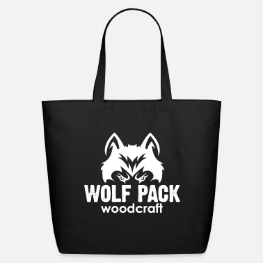 Logo White Wolf Pack Woodcraft Logo - Eco-Friendly Tote Bag
