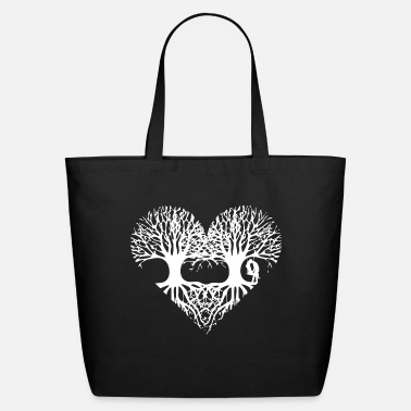 Love valentine's day tree heart love roots couple kiss - Eco-Friendly Tote Bag