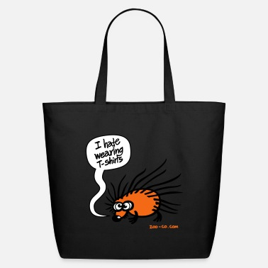 Thoughts &amp Creme Angry Hedgehog Bags  - Eco-Friendly Tote Bag