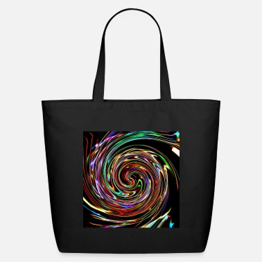 Neon Neon spirals, Neon Spiralen - Eco-Friendly Tote Bag