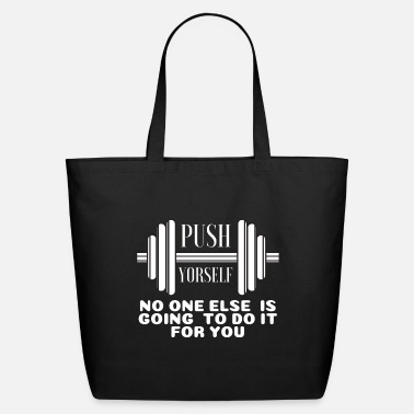 Power Weight Lifting Slogan Power Muscle Gift - Eco-Friendly Tote Bag