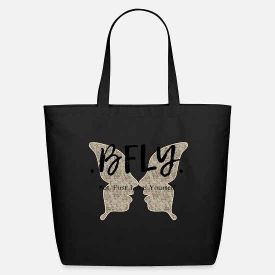 Totes Bags & Backpacks - BFLY butterfly print - Eco-Friendly Tote Bag black
