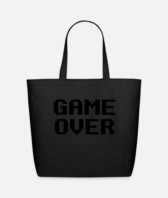 Lose Bags & Backpacks - Game Over - Eco-Friendly Tote Bag black