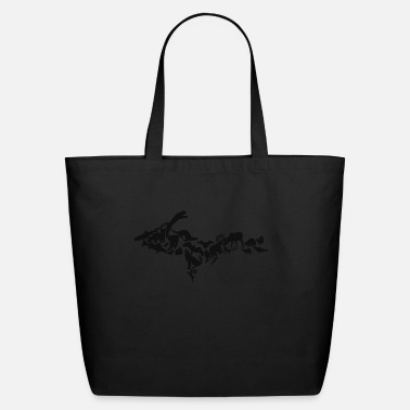 UP animals in black - Eco-Friendly Tote Bag