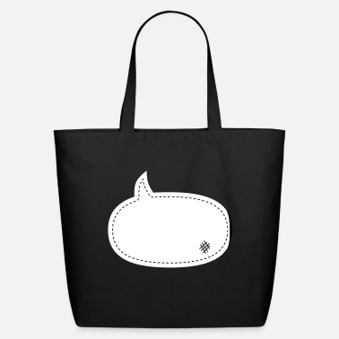 Comic speech balloon patch - Eco-Friendly Tote Bag