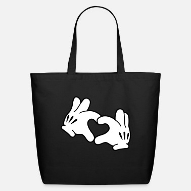 Mickey Heart Hands Mickey Heart - Eco-Friendly Tote Bag