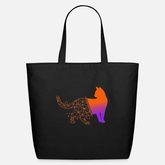 Cat Bags & Backpacks - Cat - Eco-Friendly Tote Bag black