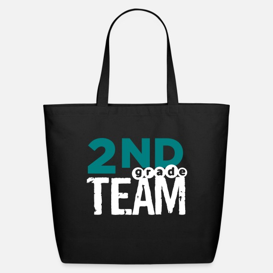 Grade Bags & Backpacks - Bold 2nd Grade Team Teacher T Shirts - Eco-Friendly Tote Bag black