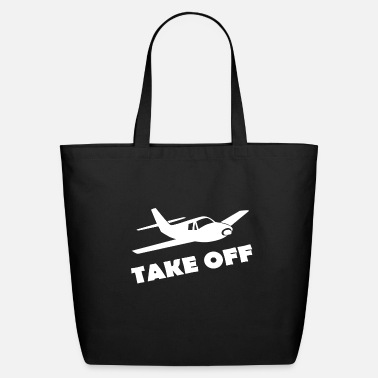 Take-off-plane TAKE OFF - Eco-Friendly Tote Bag