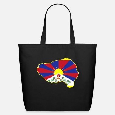 Tibet Tibet flag in borders - Eco-Friendly Tote Bag
