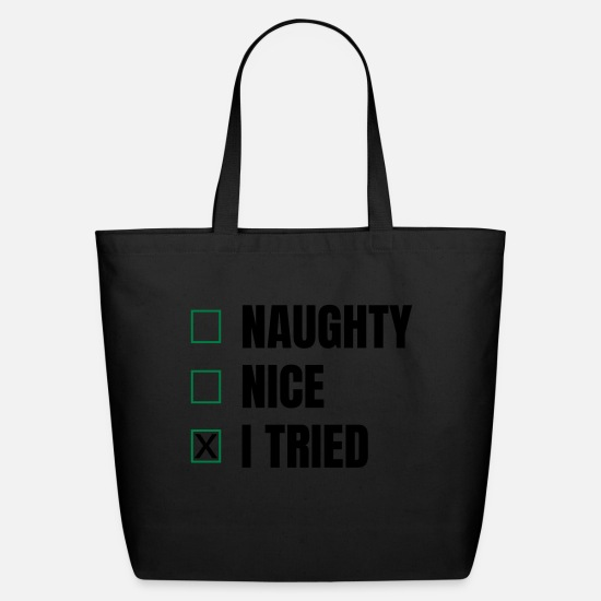 Funny Bags & Backpacks - funny saying - Eco-Friendly Tote Bag black