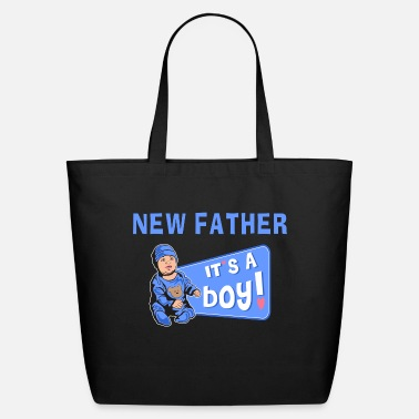 New Father New Father Baby Boy - Eco-Friendly Tote Bag