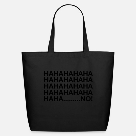 Jerk Bags & Backpacks - HAHAHANO - Eco-Friendly Tote Bag black