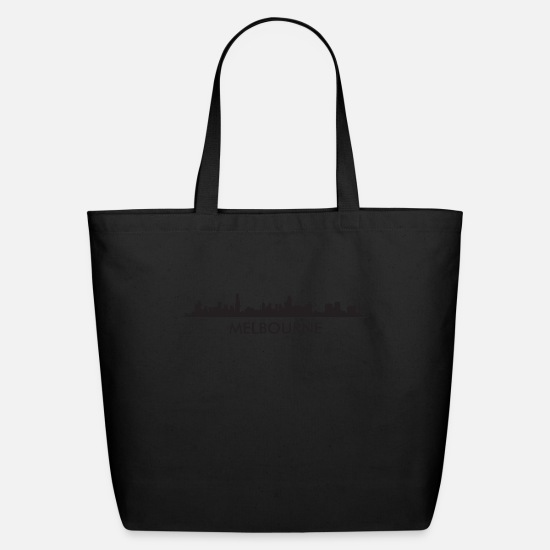 Melbourne Bags & Backpacks - Melbourne Australia Skyline - Eco-Friendly Tote Bag black