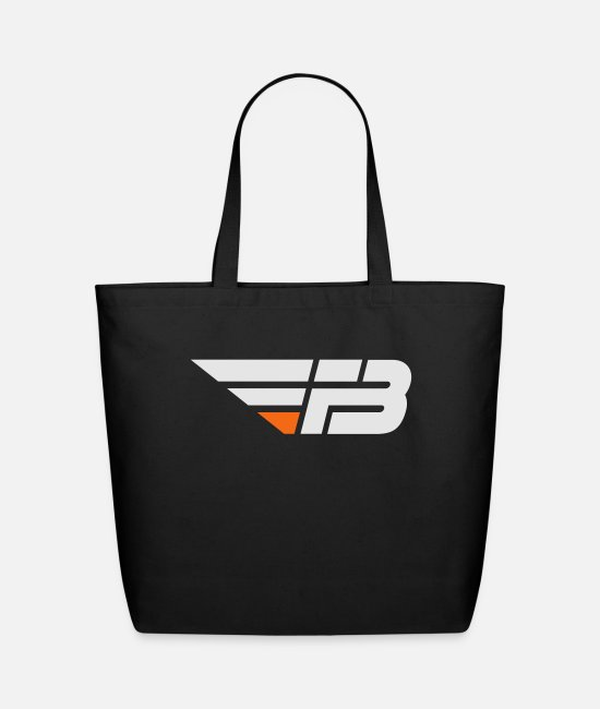 Factor B Bags & Backpacks - FBL White & Orange (nname - Eco-Friendly Tote Bag black