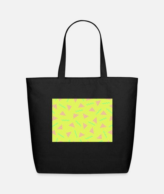 Neon Bags & Backpacks - 90s Abstract Background 4 - Eco-Friendly Tote Bag black