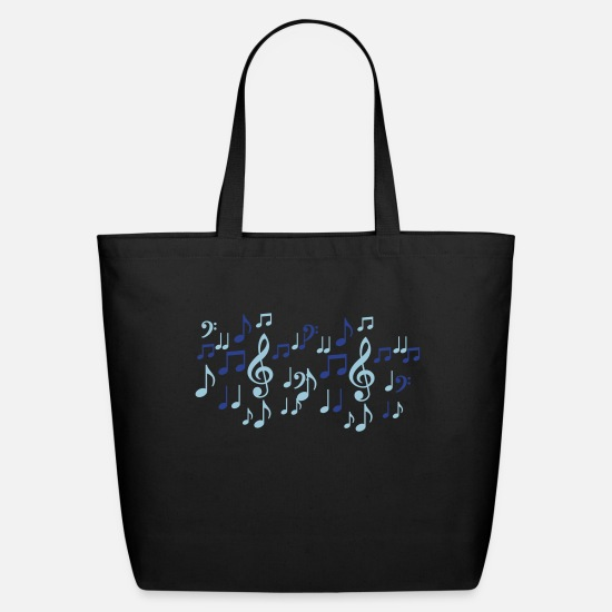 Music Bags & Backpacks - music notes - Eco-Friendly Tote Bag black