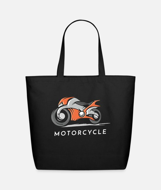 Hipster Bags & Backpacks - Motor Cycle - Eco-Friendly Tote Bag black
