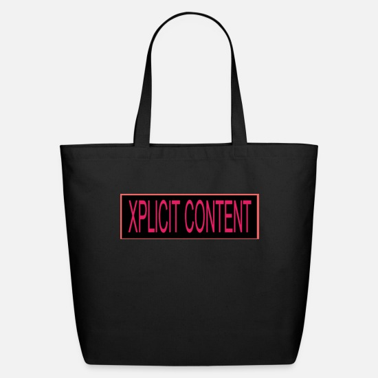 Pink Bags & Backpacks - xplicit_content - Eco-Friendly Tote Bag black