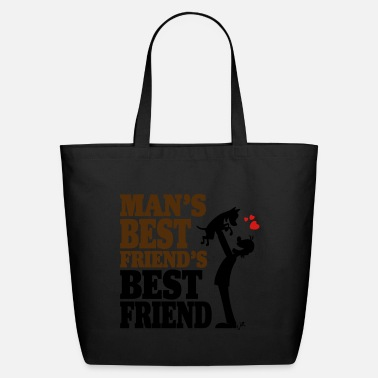 Mans Best Friend Man's best friend's best friend - Eco-Friendly Tote Bag
