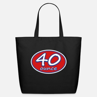 Ounce 40 Ounce Racer Oval Logo - Eco-Friendly Tote Bag
