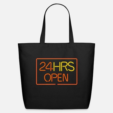 Son neon sign: 24 HRS - Eco-Friendly Tote Bag