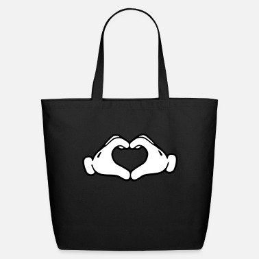 Mickey Heart Hands Mickey LOVE hands - Eco-Friendly Tote Bag