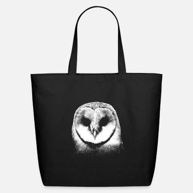 Owl Cool Barn Owl Drawing Personalisable - Eco-Friendly Tote Bag
