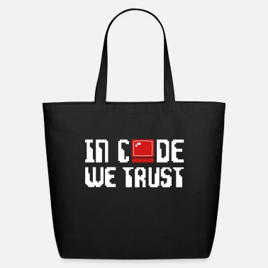 In Code We Trust Computer - Eco-Friendly Tote Bag