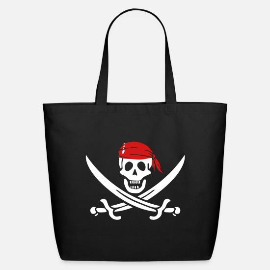 Pirate Flag Bags & Backpacks - jolly roger - Eco-Friendly Tote Bag black