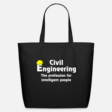 Graduate Civil Engineer Smart Civil Engineer White Text - Eco-Friendly Tote Bag