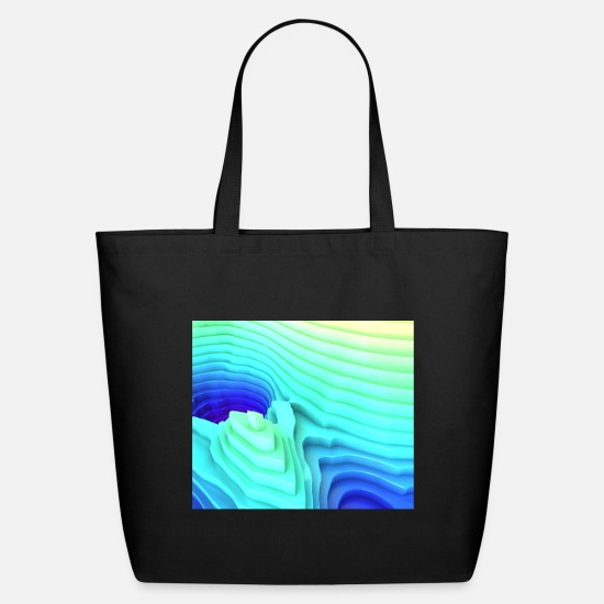 Art Bags & Backpacks - Abstract Mountain Landscape Surface Rim - Eco-Friendly Tote Bag black