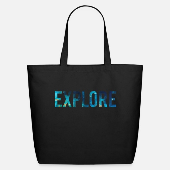 Wanderlust Bags & Backpacks - EXPLORE - Eco-Friendly Tote Bag black