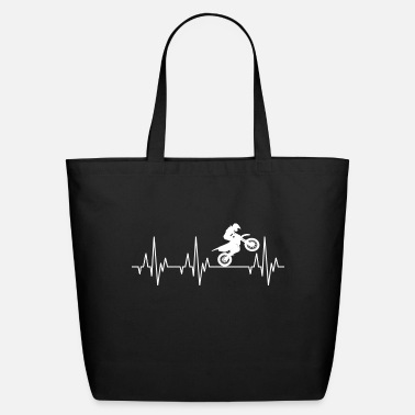 Motorcycle Heartbeat Motocross Motorcycles Motorcyclist - Eco-Friendly Tote Bag