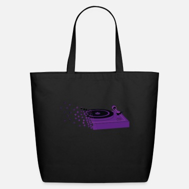 Player record player (purple is the new black) 2.0 - Eco-Friendly Tote Bag